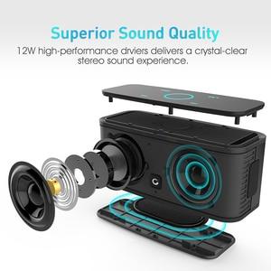 Image 2 - דוס SoundBox מגע בקרת Bluetooth רמקול 2*6W נייד אלחוטי רמקולים סטריאו צליל תיבת עם בס מובנה מיקרופון