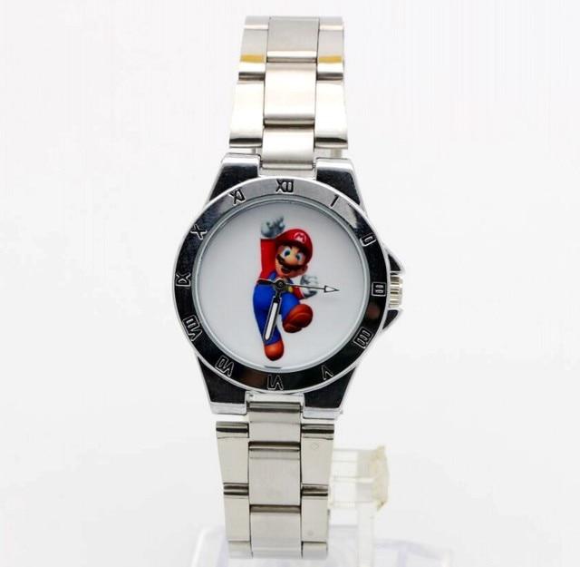 2018 New fashion steel Batman Mario Quartz watch watch Women Men's luxury quartz