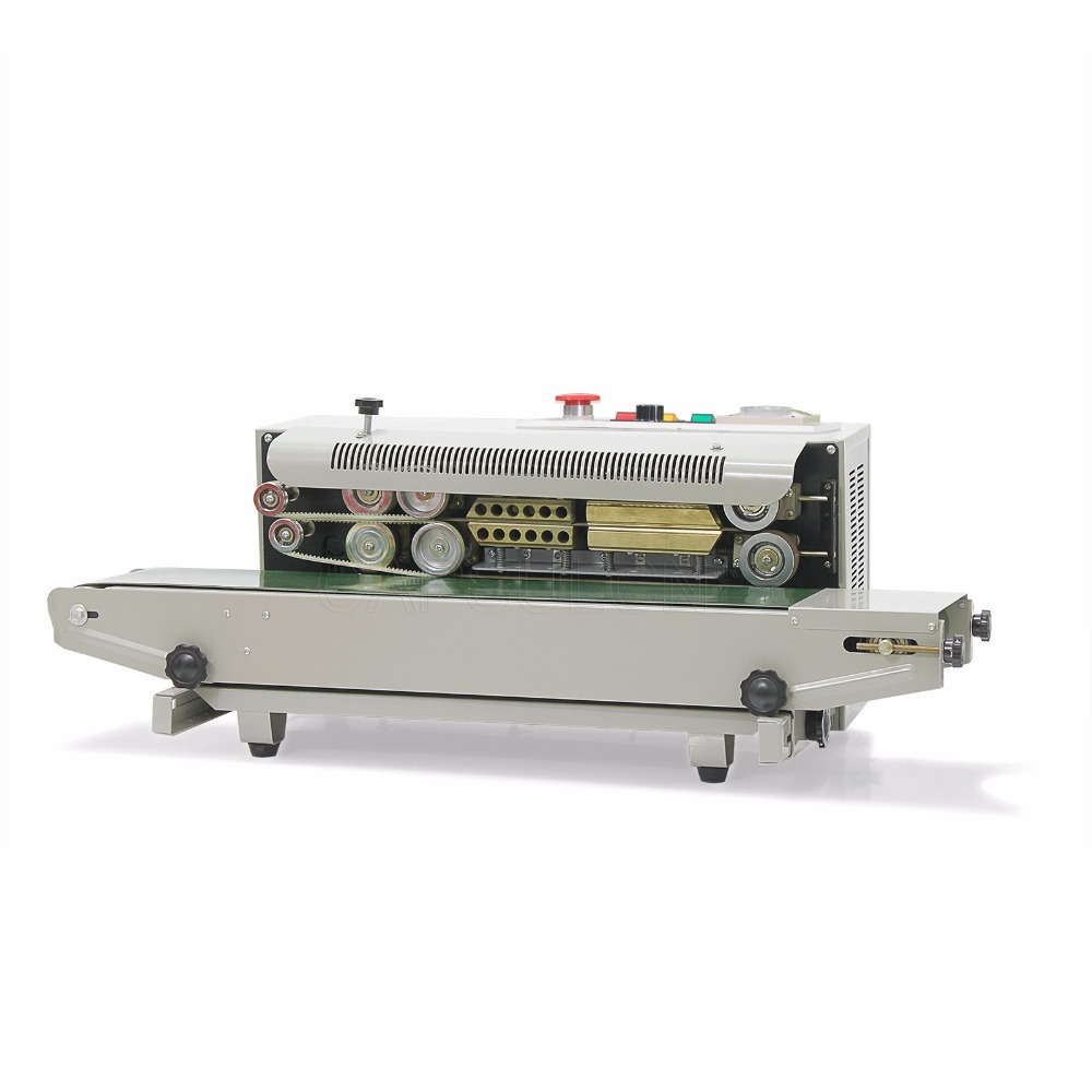 CapsulCN,Automatic Continuous Plastic Bag Sealing Machine with Coding Printer FR-900 (110V/60HZ) capsulcn 1 100g automatic tea bag packing machine fzz 2 automatic sealing machine for powder and granule 220v 110v