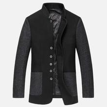 Wool coat mens trench coats male woolen jacket Parka Men Winter Clothing Warm Woollen Overcoat