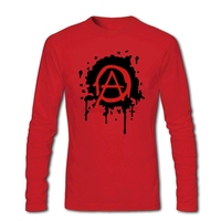 Mens Anarchy Logo Tee Shirts Punk Design Tubthumping Tees For Mens Full Sleeve Retro T Shirts