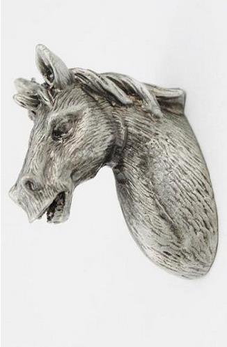 Antique Sliver Horse Head design Drawer  Handles Kitchen Cabinet Door Pull Handle / Furniture Knob Hardware