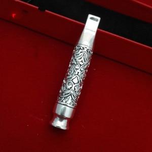 Image 3 - Xianglong sac à cigarettes en argent pur étui à cigarettes avec élément filtrant, robinet de Cigarette bijoux en argent 999, Pipe, pour hommes