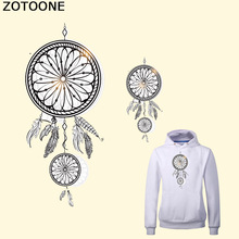 ZOTOONE Feathers Dreamcatcher Patches Iron On Transfers For Clothing T Shirt Applique Hot Heat Vinyl Thermal Transfer Stickers C