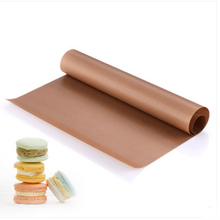 1Pc Reusable Baking Mat High Temperature Resistant Teflon Sheet Pastry Oilpaper Heat-Resistant Pad Non-stick Outdoor BBQ