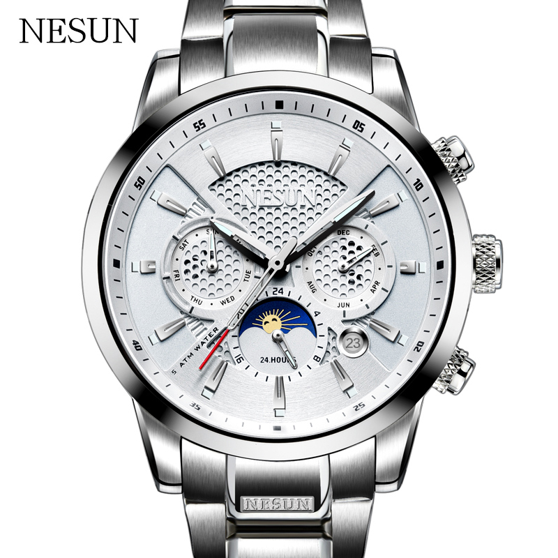 NESUN Creative Sport Watches Business Men Automatic Mechanical Wristwatches Waterproof Clock Luxury Brand Male Relogio Masculino цена