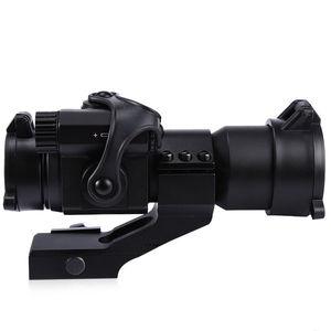 Image 3 - 戦術 M2 ホログラフィック視力ライフルスコープ 1X30 レッド & グリーンドット狩猟照準光学スコープコリメートライフルスコープ狩猟用