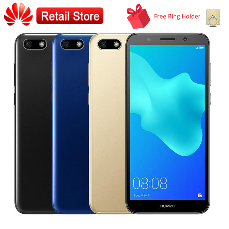 "Huawei Y5 Prime 2018 4G LTE Global Mobile Phone 5.45"" MT6739 Quad Core Android 8.1 Dual Camera Face Unlock Smartphone 2GB 16GB"
