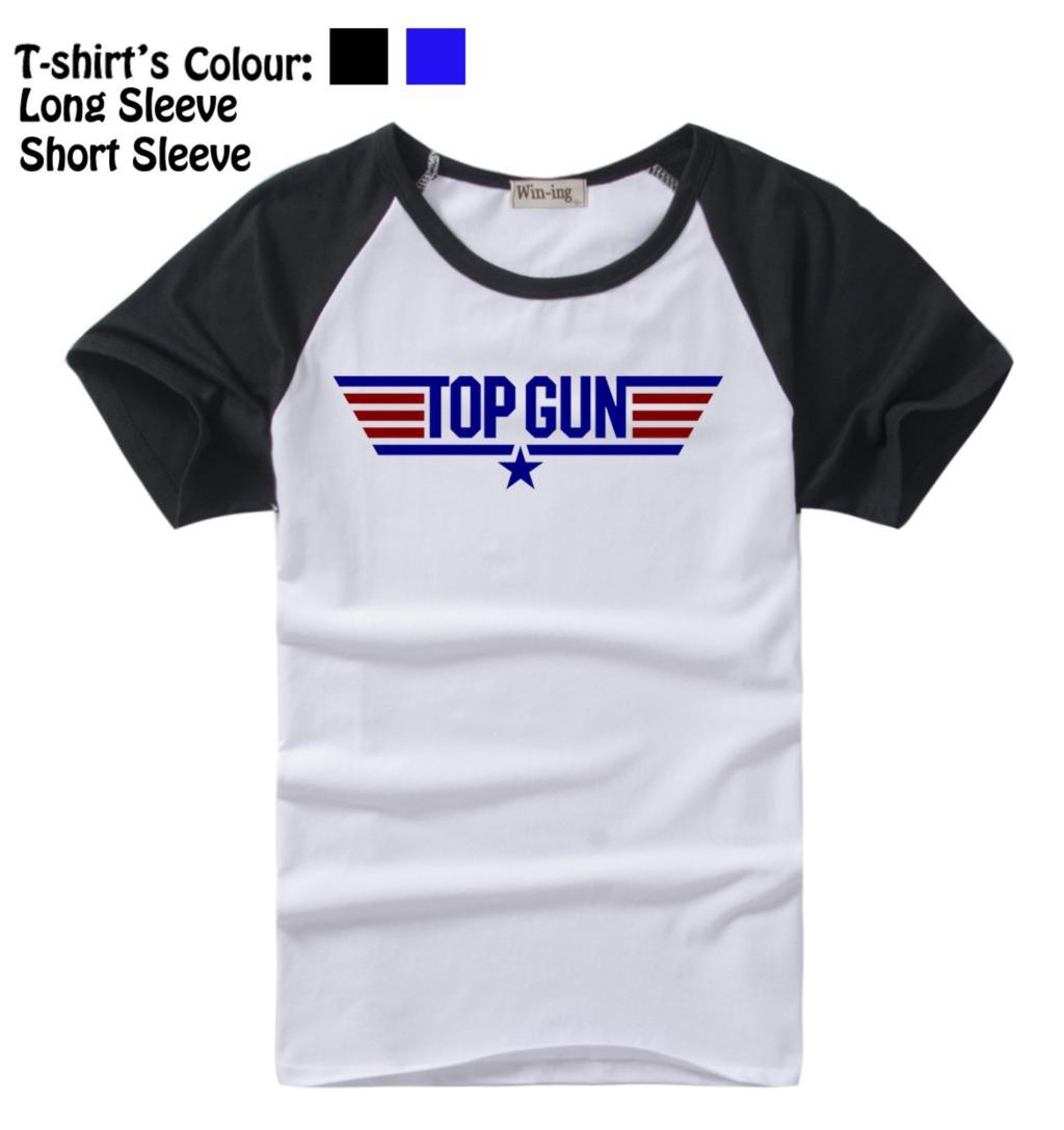 Top Gun Retro CALLSIGNS STAG Fiesta Elegante patrón de diseño Manga - Ropa de hombre