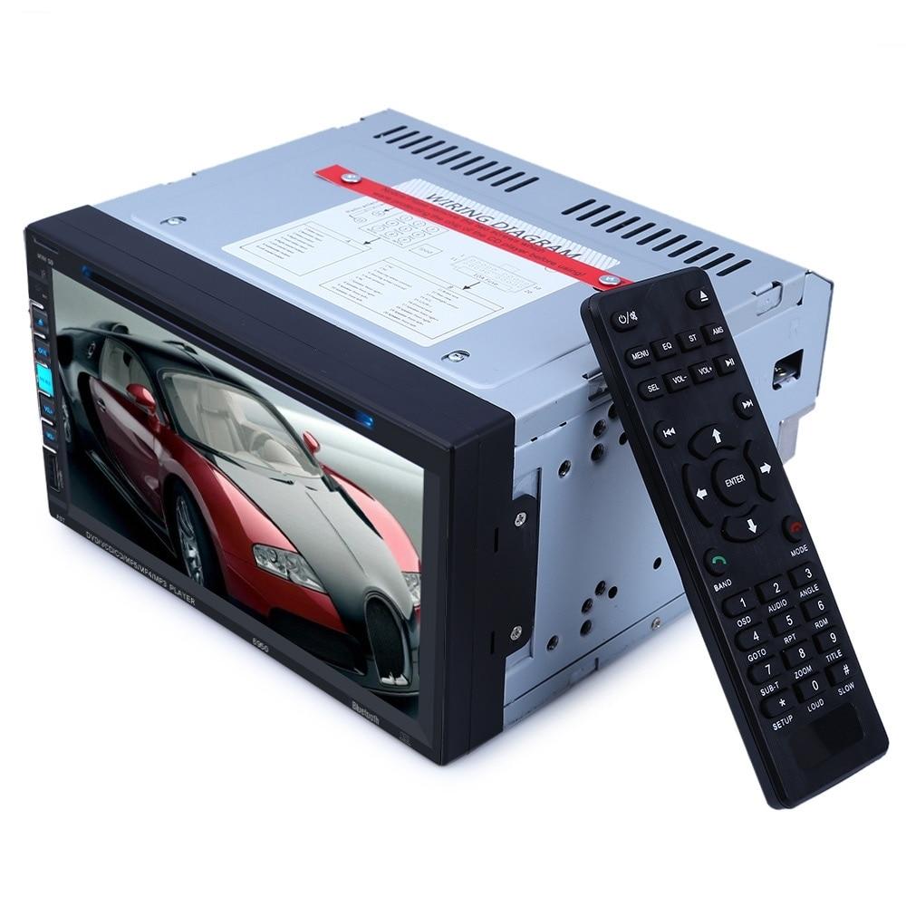 6.9 дюймовый сенсорный экран DVD-плеер автомобиля bluetooth стерео авто Радио двойной DIN автомобиля DVD в-черточки стерео Встроенный микрофон видео