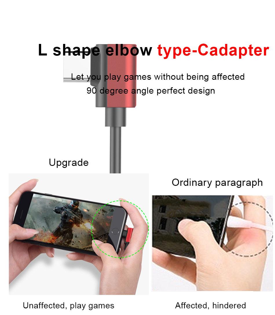 !ACCEZZ USB Type C Earphone Connector For Xiaomi Mi 6 5 Huawei Mate 10 Pro Fast Headphone Jack Splitter Charging Audio Adapter (6)