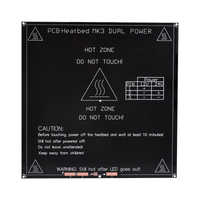 Black Color New RepRap 3D Printer MK3 Heat Bed Aluminum Heat Bed Dual Power 3D Printer