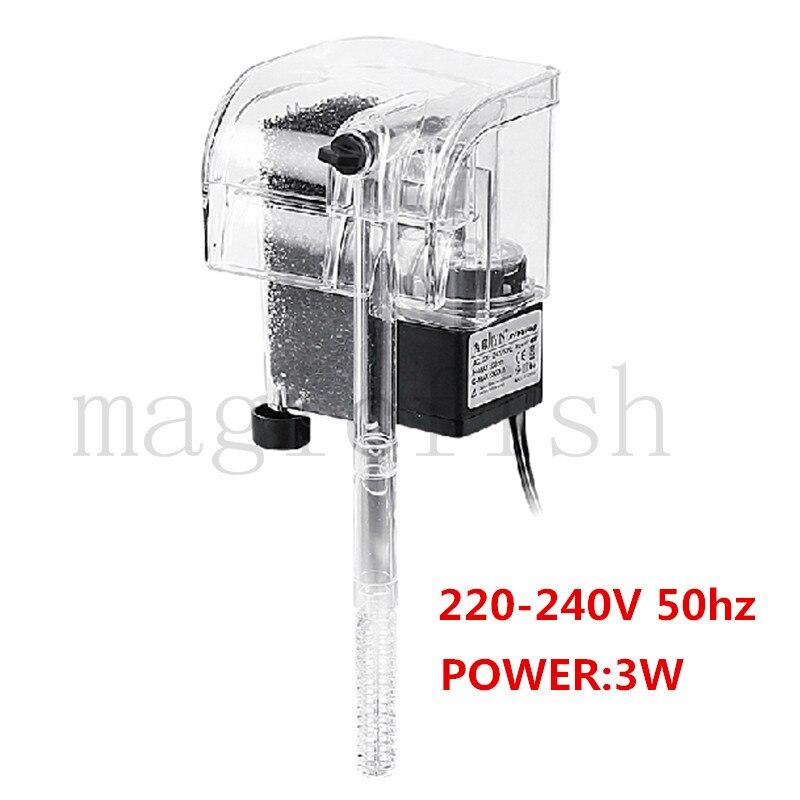 110-240 в мини-аквариумный фильтр Внешний, повесить фильтр, Кислородная установка-супер для аквариумных аксессуаров - Цвет: 220-240V 50HZ