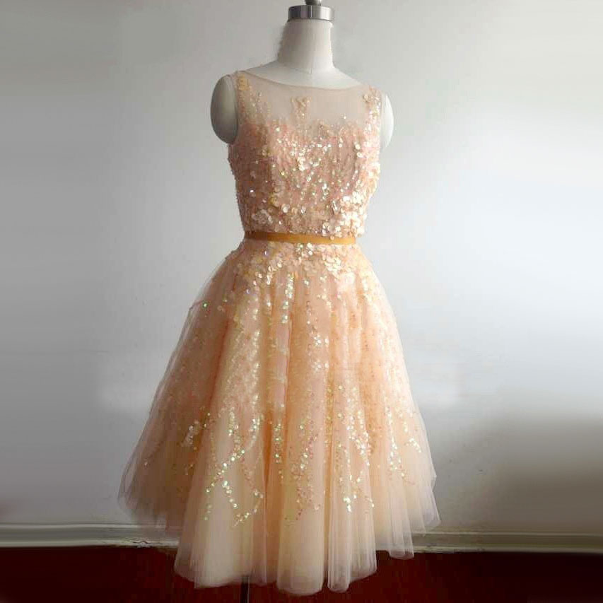 Sexy vestido de Bola de Lujo Con Cuentas Brillantes Lentejuelas Mini Vestidos de