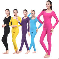 XINTOWN Women's Base Layer Fleece Long Sleeve Thermal Underwear Running Cycling Sports Warm Wear Cycling Clothes Pure Color