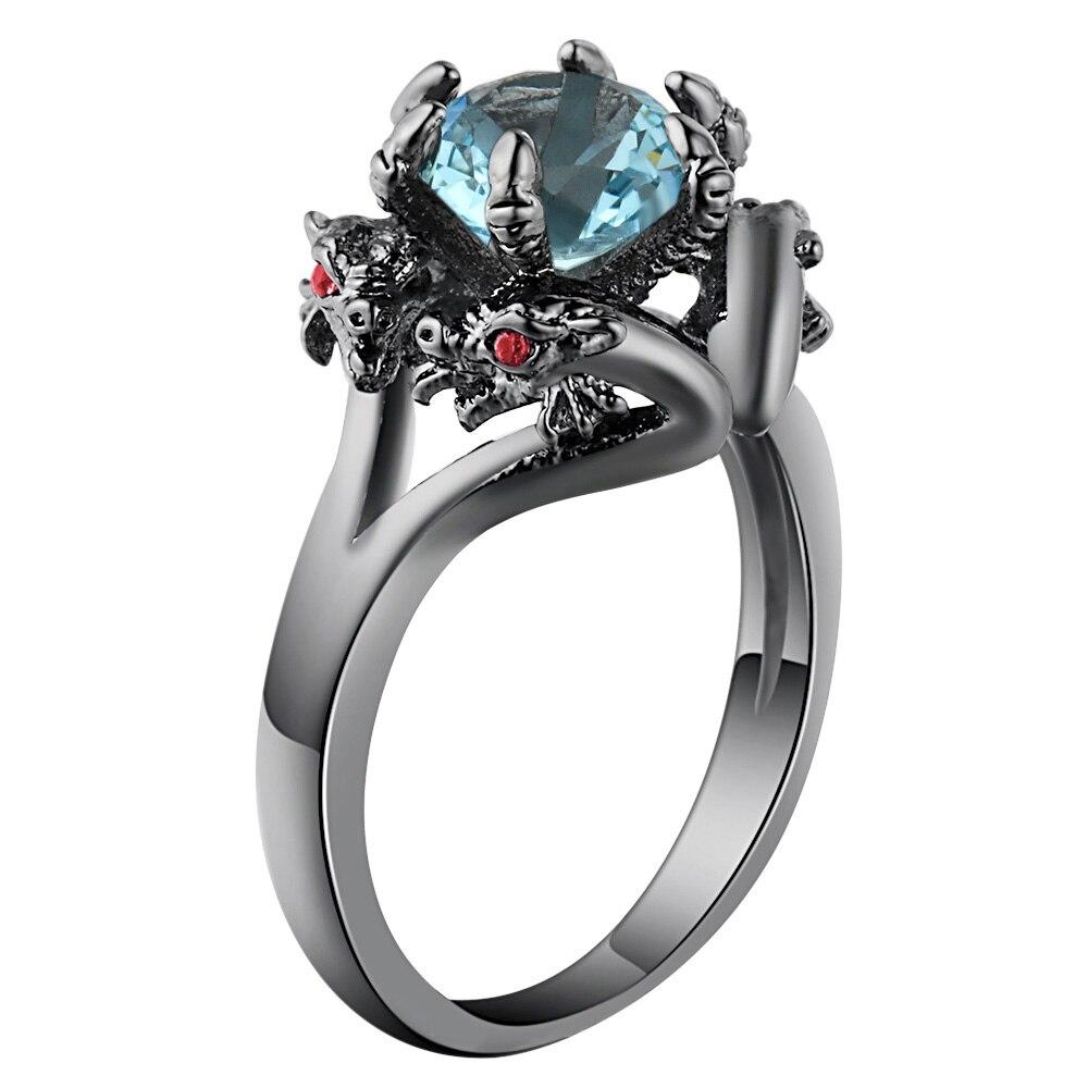 Купить кольца hainon с черным пистолетом крутые мужские кольца драконом