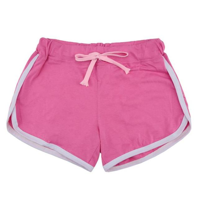 44c3f19dfb US $7.22 |Leisure Women Cotton Shorts Contrast Binding Side Split Elastic  Waist Loose Casual Shorts Female Short Feminino-in Shorts from Women's ...
