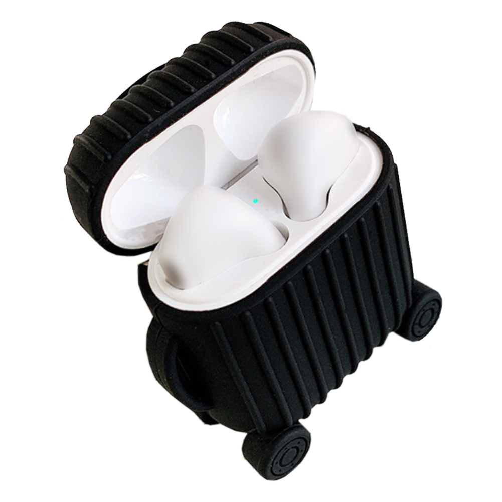 Anti-scratch Dustproof Protective Bluetooth Cover Earphone Case Box Portable Cute Suitcase Soft Silicone Accessories For AirPods