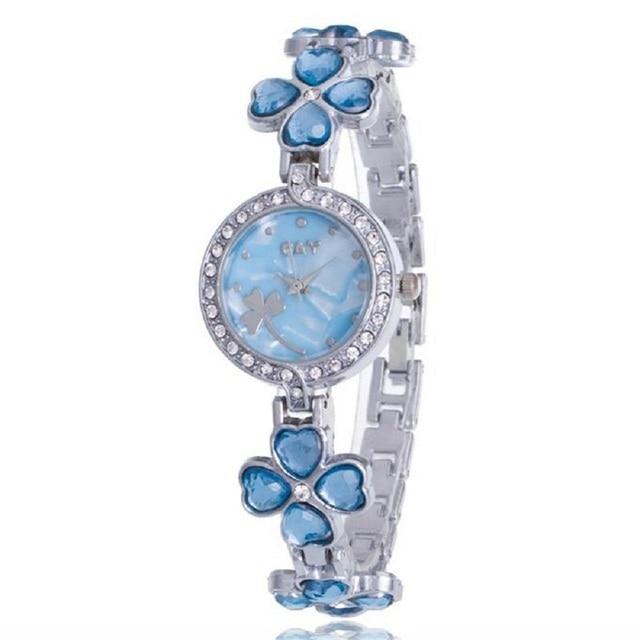 Women bracelet watch Relogio Feminino Minimalism Rhinestone Golden Stainless Ste