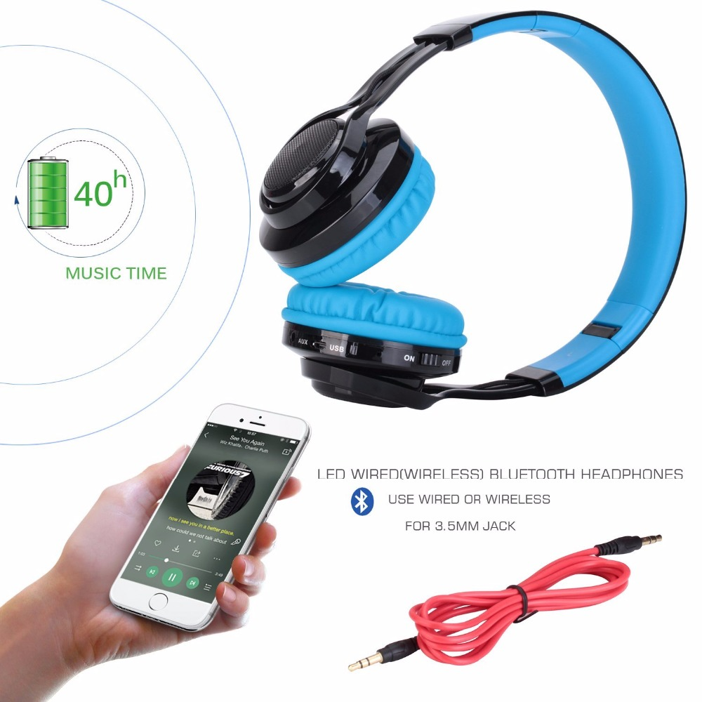 Gaming headband Computer Wireless bluetooth headphone AB005 headset mp3 Sport for Media music mp3 wire headset with microphones