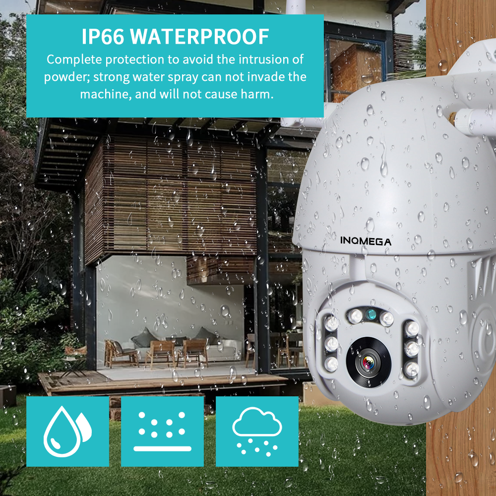 HTB1SEHlef1G3KVjSZFkq6yK4XXaC INQMEGA IP Camera WiFi 1080P Wireless Auto tracking PTZ Speed Dome Camera Outdoor CCTV Security Surveillance Waterproof Camera