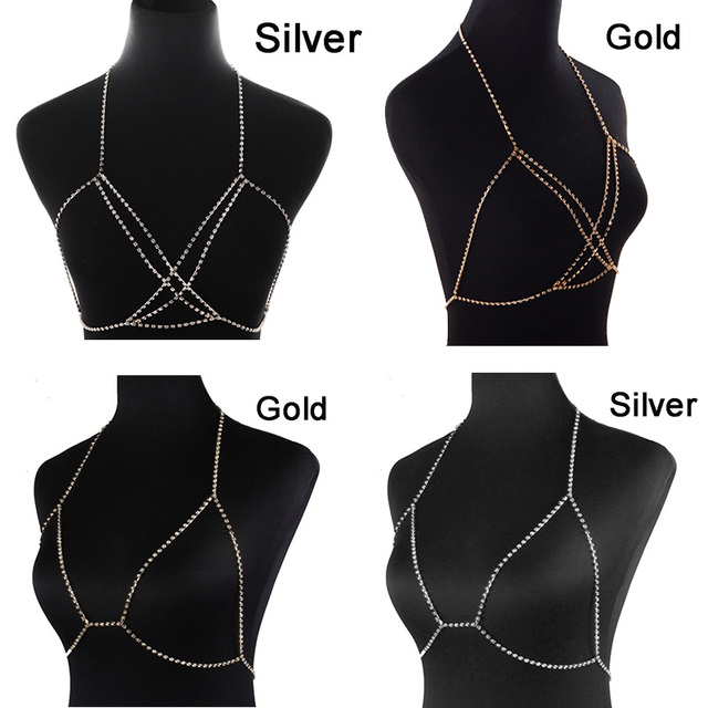 Body Fashion Rhinestone Chain Necklace14