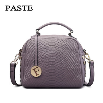 YUFANG Women Handbag Genuine Leather Mini Shoulder Bag Leisure Messenger Bag Daily Crocodile Crossbody Bag Female Trendy