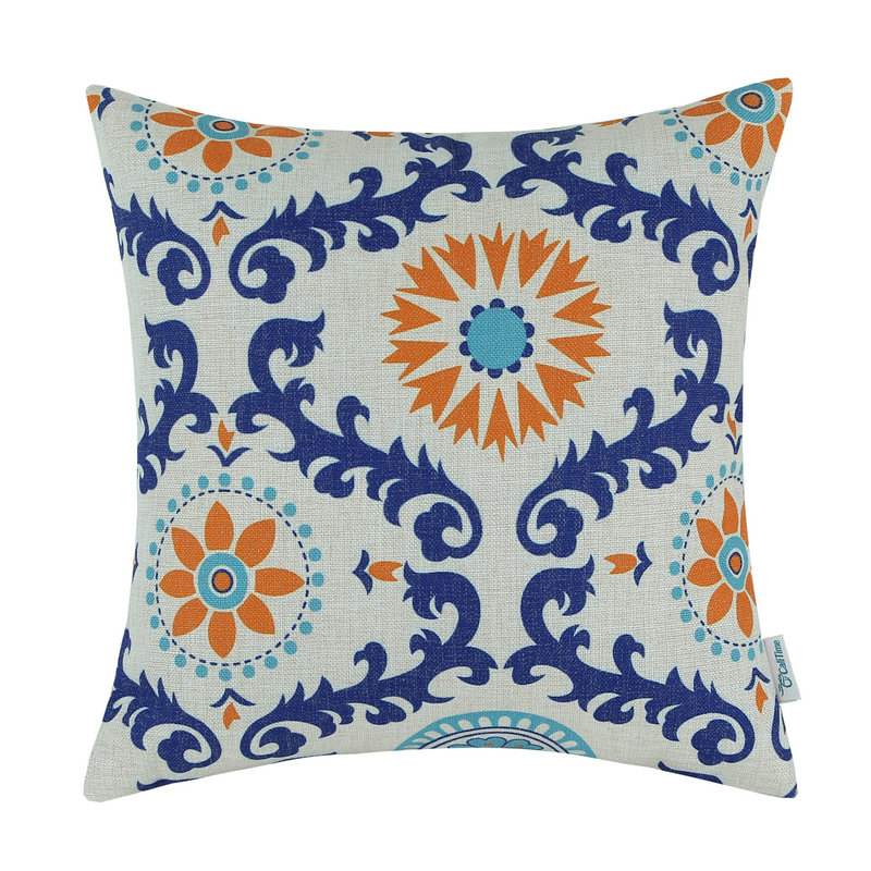 CaliTime Decorative Pillows Shell Cushion Cover Home Sofa Cotton