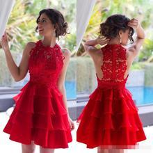Neue 2016 Kurz Rot Homecoming Kleider Backless Durchsichtig Cocktailkleider Sexy Party Kleider Für Frauen A-linie Abendkleid 16072006