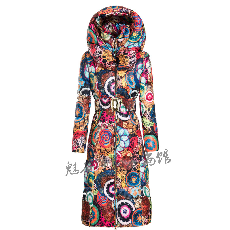 Ukraine Real Hot Sale Zipper Broadcloth Slim Full 2017 New Long Coat Womens Jacket Printing Was Cotton Padded Thick Windbreaker long coat womens jacket new printing was thin down cotton padded thick coat windbreaker
