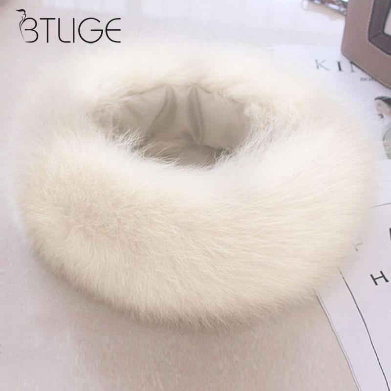 Winter Women Faux Raccoon Fur   Scarf   For Ladies Luxury Rabbit Fur Collar   Scarf     Wrap   Ring Women Warm Soft Neck Warmer Neck Collar