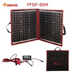 Dokio 80 W (40*2 piezas) 18 V Flexible plegable del Panel Solar + 12 V/24 V Controlador Solar Panel Solar portátil para acampar/ viajes