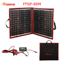 Dokio 80W (40*2pcs) 18V Flexible Foldable Solar Panel + 12V/24V Solar Controller Portable Solar Panel For Camping/Travel