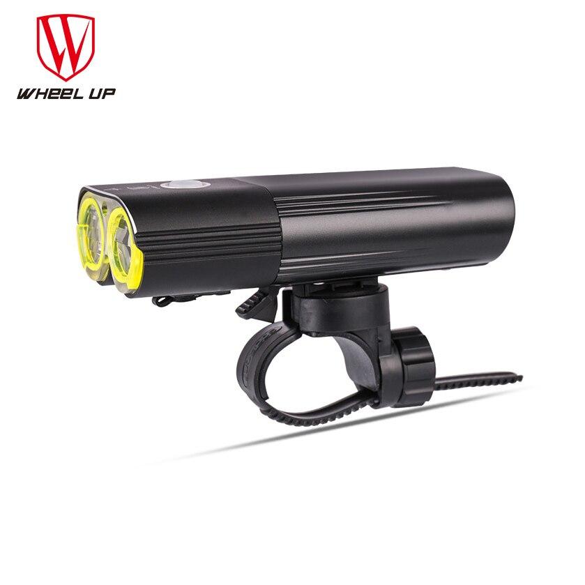 Wheelup 1600 Lumens avant Portable vélo lumières étanche à la pluie USB Rechargeable lampe de poche moto luminaires accessoires