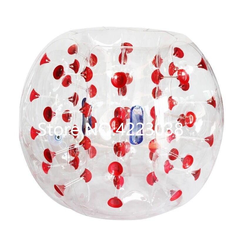 1,5 м надувной футбольный мяч в виде пузыря бампер шар-Зорб пузырь футбол человеческий батут Bubbleball Zorb мяч - Цвет: red dots
