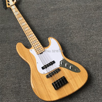 High quality 5 string ash electric bass, black metal parts, factory wholesale and retail, real photos