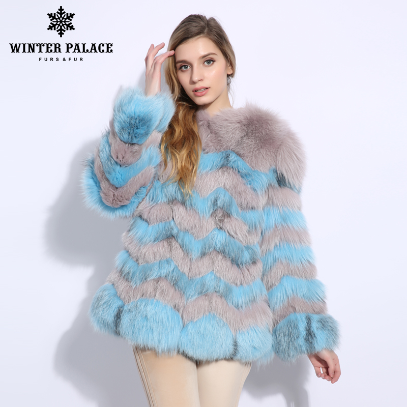 Upscale Genuine Leather Fur Coat New Products Natural Fox Fur Coat Trend Fashion Women Real Fox Fur Coat