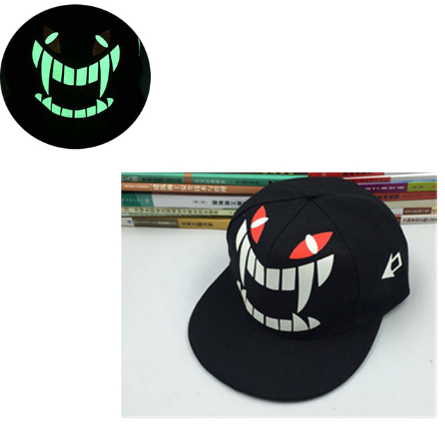 b8b6cc1164ca1 Fluorescencia sombrero para hombres de Graffiti Snapback monstruo verde  glowing cap gorra de béisbol mujer muchachas