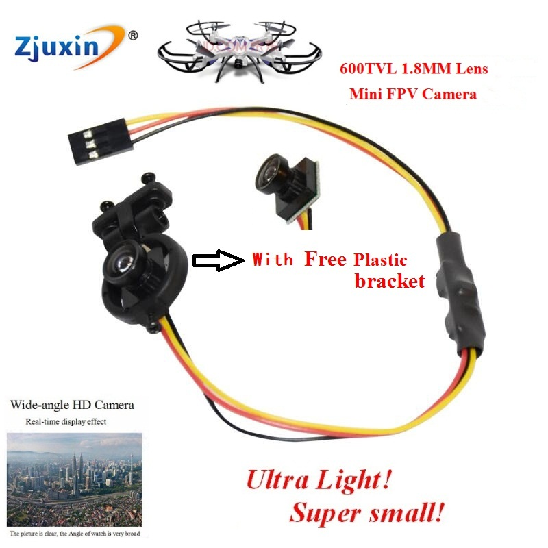 NEW 1.8m Wide Angle Lens MINI FPV camera 170 Degree PAL/NTSC Format Ultra light FPV Camera 600TVL HD 1/4  CMOS Camera black v neck lace up design cami top