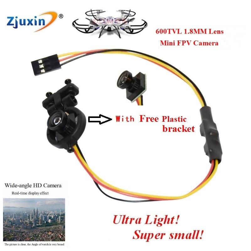 "imágenes para NUEVA 1.8 m Lente Gran Angular MINI cámara FPV 170 Grados PAL/NTSC Formato Ultra light FPV Cámara 600TVL HD 1/4 ""CMOS de La Cámara"