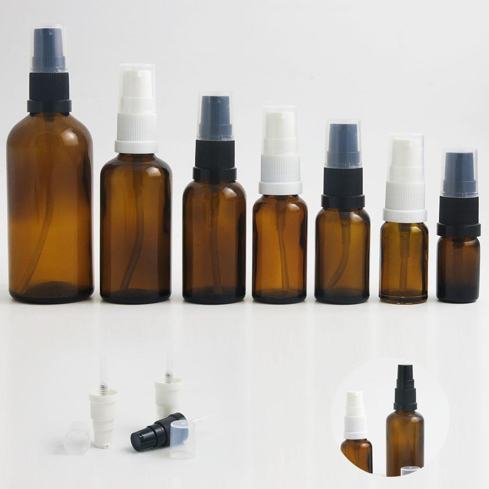 360 x 5ml 10ml 15ml 20ml 30ml 50ml 100ml Essential Oil Amber Glass Bottles With Pump
