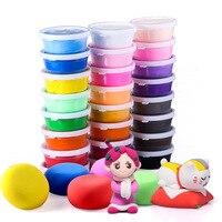 24 couleur Super léger argile costume enfants BRICOLAGE jouet en argile à modeler boue cristal 3C certification Jouets Cadeau pour les Enfants