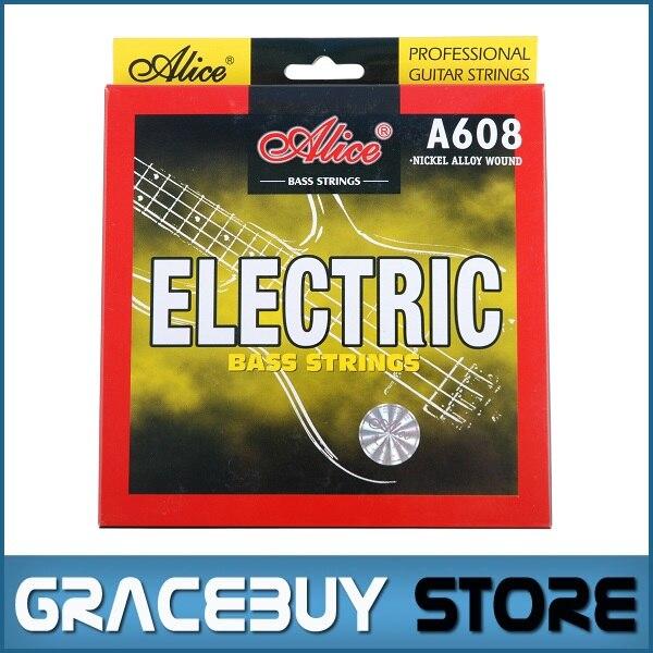 все цены на  Electric Bass String 4-string set (045 065 085 105) Hexagonal Core Nickel Alloy Wound - Alice A608(4)-M encordoamento  онлайн