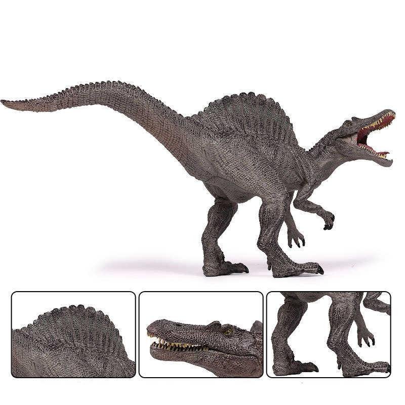 8 estilos Mundo Jurássico Spinosaurus Parque do Dinossauro Modelo de Brinquedo de Plástico Colorido Figura Coleção de Brinquedos de Presente Para As Crianças Menino