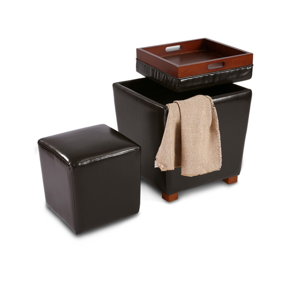 Awe Inspiring Langria 2 Piece Nesting Faux Leather Ottoman Set With Legs Alphanode Cool Chair Designs And Ideas Alphanodeonline