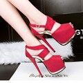 Свадебные туфли на платформе сандалии партия обуви для женщин обувь на каблуках сандалии strappy каблуки женщины розовый насосы высокие каблуки сандалии D812