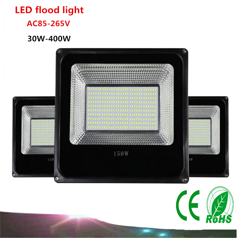 1PCS LED Flood Light AC85-265V 30W/50W/100W SMD5730 Project-light IP66 LED Waterproof Advertising Lamp Garden Square Lighting