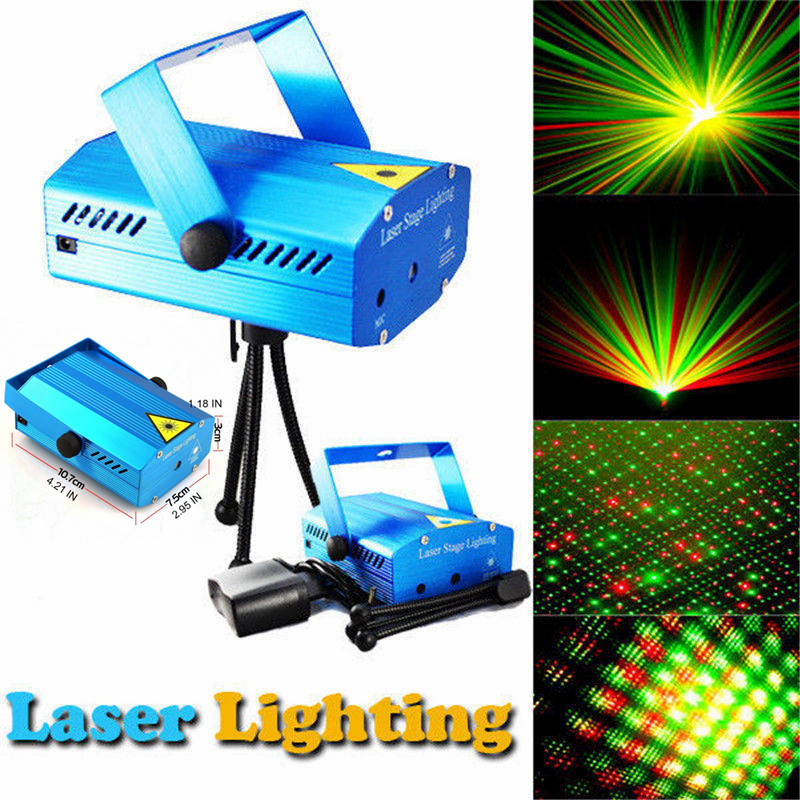 Mini aluminium alloy Christmas Laser Projector R&G DJ Disco Light Stage effect Xmas Party lights Lighting Show