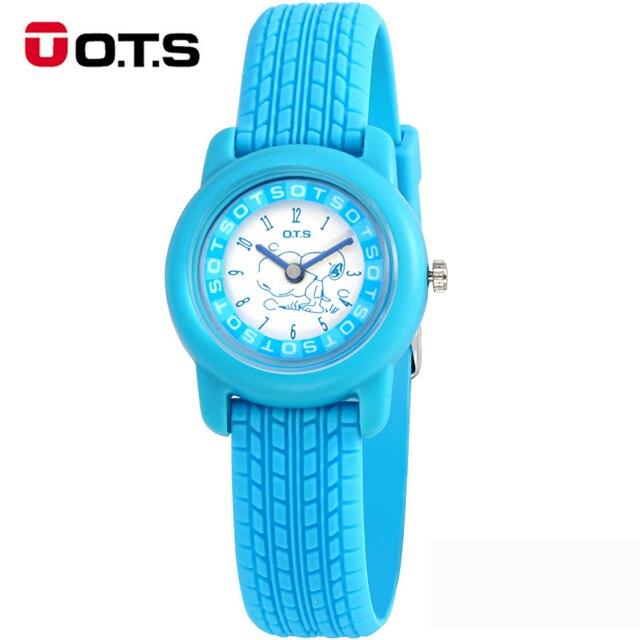 Safe Environmental OTS Candy kids Quartz Children's Cartoon Watches Sports Wristwatch Student Quartz-watch Gifts For Boys Girls