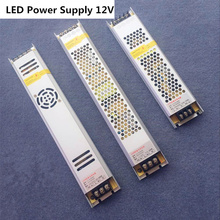 3 years warranty Ultra Thin LED Power Supply DC 12V Lighting Transformers 60W 100W 150W 200W 300W 175-265V Long driver Strip